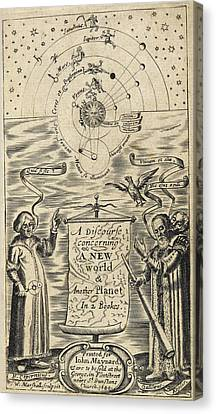 Astronomer And Solar System Canvas Print by British Library