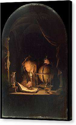 Astronomer By Candlelight Canvas Print
