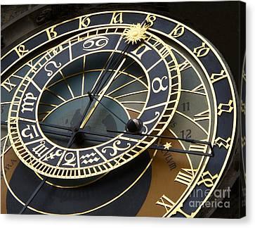 Astronomical Clock Canvas Print by Ann Horn