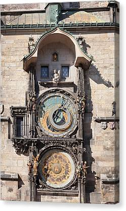 Astronomical Clock At The Old Town Canvas Print