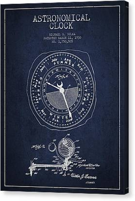 Astronomical Clock Patent From 1930 Canvas Print by Aged Pixel