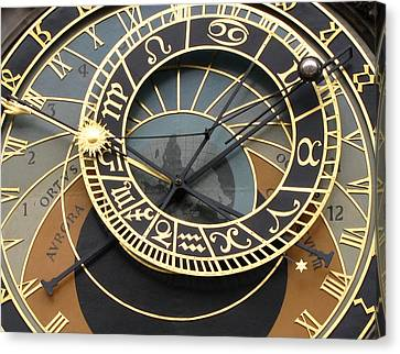 Astronomical Clock Prague Canvas Print