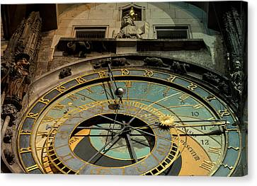 Astronomical Clock Canvas Print by Sergey Simanovsky