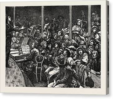 At A Concert Given To The Poor Italians In London Canvas Print