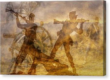 At A Place Called Gettysburg Ver Two Canvas Print by Randy Steele