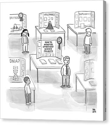At A Science Fair Canvas Print by Paul Noth