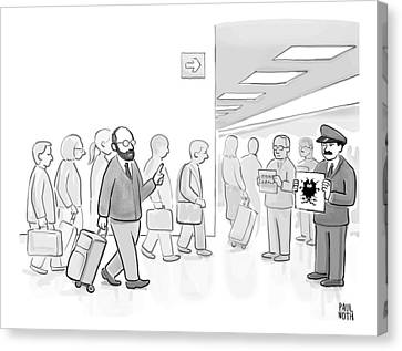 Driver Canvas Print - At An Airport by Paul Noth