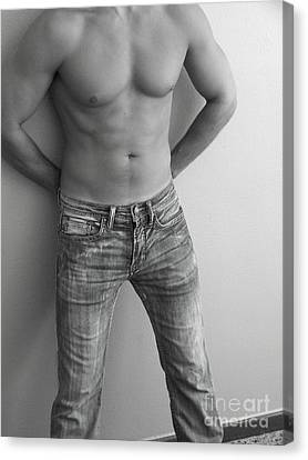 At Ease In Jeans Canvas Print