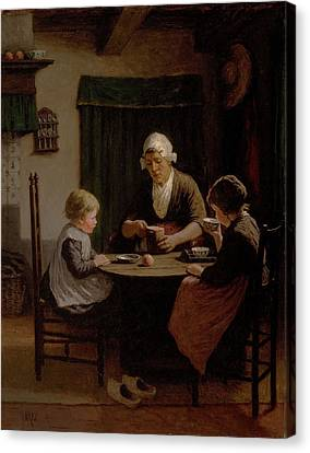 At Grandmothers Canvas Print by David Adolph Constant Artz