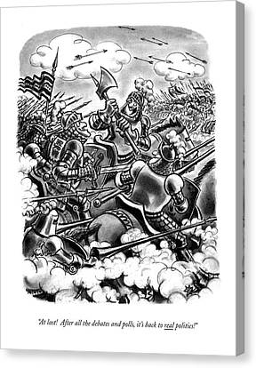 Armor Canvas Print - At Last! After All The Debates And Polls by Ed Fisher