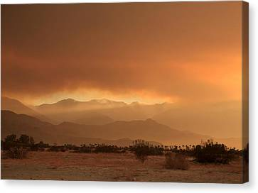 Foothills Canvas Print - At Least A Ray Of Hope by Laurie Search
