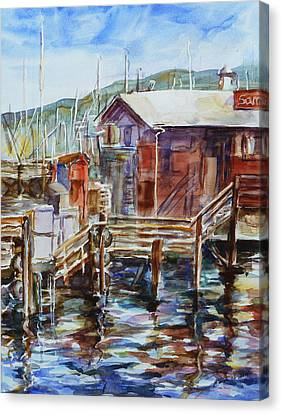 At Monterey Wharf Ca Canvas Print by Xueling Zou