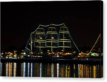 At Night On The  Delaware River - The Mushulu Canvas Print by Bill Cannon