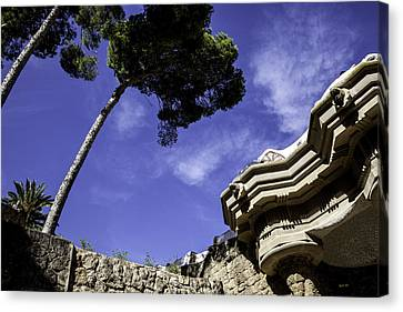 At Parc Guell In Barcelona - Spain Canvas Print by Madeline Ellis