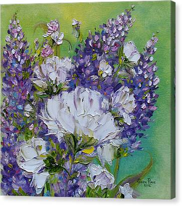 Canvas Print featuring the painting At Peg's Request by Judith Rhue