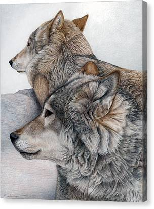 Canvas Print featuring the painting At Rest But Ever Vigilant by Pat Erickson