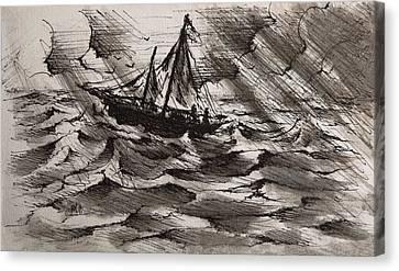 At Sea Canvas Print by Rachel Christine Nowicki