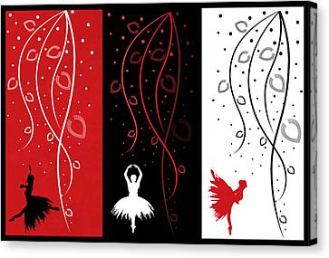 At The Ballet Triptych 1 Canvas Print