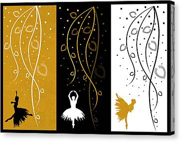 At The Ballet Triptych 4 Canvas Print