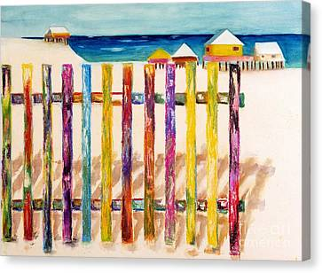 At The Beach Canvas Print by Frances Marino