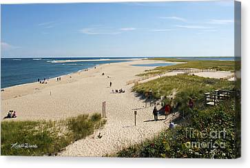 Chatham Canvas Print - At The Beach In Chatham Cape Cod Massachusetts by Michelle Wiarda-Constantine