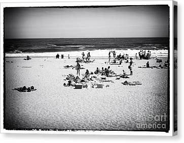 At The Beach Canvas Print