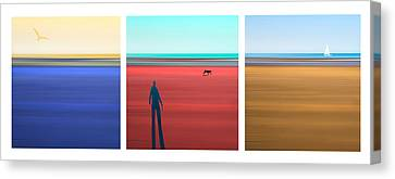 At The Beach Canvas Print by Mal Bray