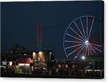 Canvas Print featuring the photograph At The Beach by Steve Godleski