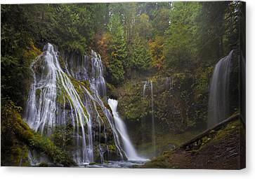At The Bottom Of Panther Creek Falls Canvas Print by David Gn