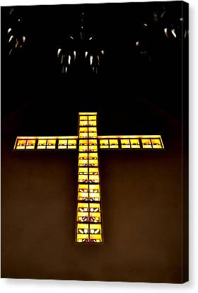 At The Cross Canvas Print by Deena Stoddard