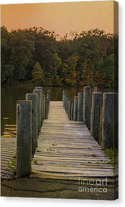 At The Docks End Canvas Print by Janice Rae Pariza