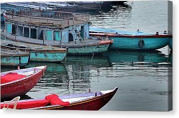 At The Docks II - Varanasi India Canvas Print