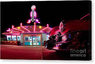 At The Drive-in Canvas Print by Mark Miller