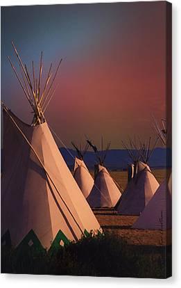 At The Encampment Canvas Print