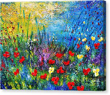At The End Of The Day Canvas Print by Teresa Wegrzyn