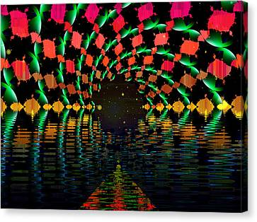 At The End Of The Tunnel Canvas Print by Faye Symons