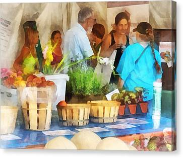 Apple Canvas Print - At The Farmer's Market by Susan Savad