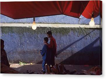 Canvas Print - At The Fish Market Casablanca 1996 by Rolf Ashby