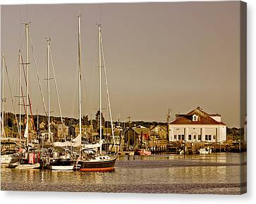 At The Harbor - Martha's Vineyard Canvas Print by Kim Hojnacki