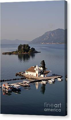 Corfu Canvas Print - Panagia Vlachernon Monastery In Corfu Island by George Atsametakis