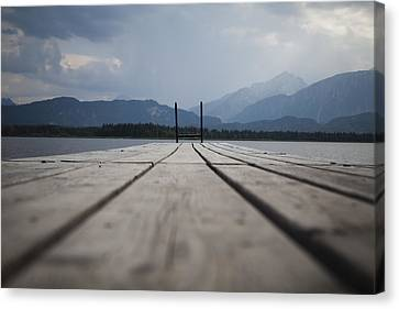 At The Jetty Canvas Print by Maria Heyens