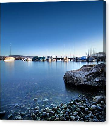 At The Lake Zuerich Canvas Print by Marc Huebner