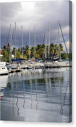 At The Marina Canvas Print by    Michael Glenn
