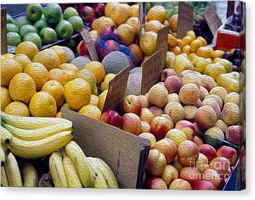 At The Market Canvas Print by Jon Neidert