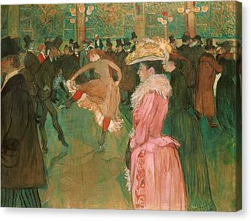 At The Moulin Rouge - The Dance Canvas Print by Toulouse-Lautrec