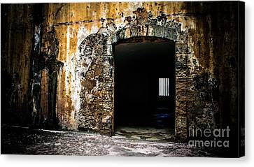 At The Old Fort Canvas Print by Perry Webster