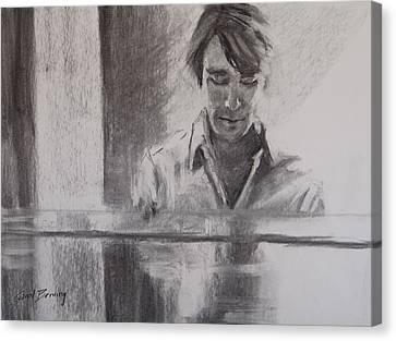 At The Piano Canvas Print by Carol Berning