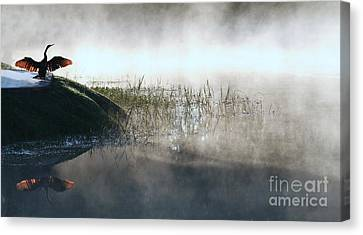 At The Pond Canvas Print by Monika A Leon