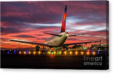 At The Starting Line Canvas Print by Alex Esguerra