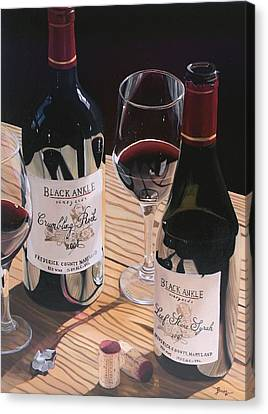 Virginia Wine Canvas Print - At The Right Time by Brien Cole